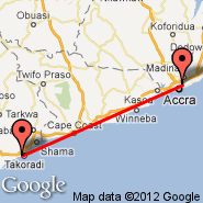 Accra (Kotoka, ACC) - Takoradi (TKD)