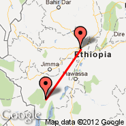Addis Abeba (Bole International, ADD) - Jinka (Baco, BCO)