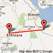 Addis Abeba (Bole International, ADD) - Hargeisa (Egal International Airport, HGA)
