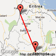 Addis Abeba (Bole International, ADD) - Humera (HUE)