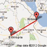 Addis Abeba (Bole International, ADD) - Djibouti (Ambouli, JIB)
