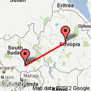 Addis Abeba (Bole International, ADD) - Juba (JUB)