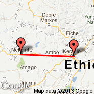 Addis Abeba (Bole International, ADD) - Nekemt (NEK)