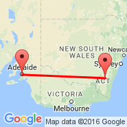 Adelaide (Adelaide International Airport, ADL) - Canberra (CBR)