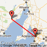 Adelaide (Adelaide International Airport, ADL) - Cleve (CVC)