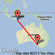 Adelaide (Adelaide International Airport, ADL) - Denpasar/Bali (Ngurah Rai International, DPS)
