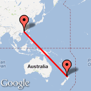 Auckland (Auckland International, AKL) - Guangzhou/Canton (New Baiyun, CAN)