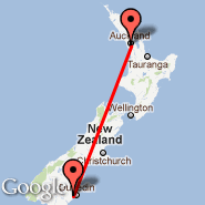Auckland (Auckland International, AKL) - Dunedin (Dunedin International, DUD)