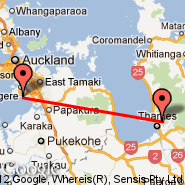 Auckland (Auckland International, AKL) - Thames (TMZ)