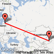 Almaty (ALA) - Riga (Riga International, RIX)