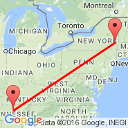 Albany (Albany International, ALB) - Nashville (Nashville International, BNA)