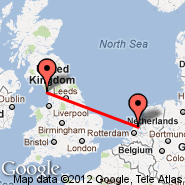 Amsterdam (Amsterdam-Schiphol, AMS) - Barrow-in-Furness (Walney Island, BWF)