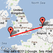 Amsterdam (Amsterdam-Schiphol, AMS) - Newquay/Cornwall (Newquay Cornwall Airport, NQY)