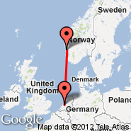 Amsterdam (Amsterdam-Schiphol, AMS) - Stord (Stord Airport, SRP)