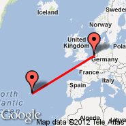 Amsterdam (Amsterdam-Schiphol, AMS) - Terceira (Lajes Ab, TER)