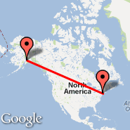 Anchorage (Ted Stevens Anchorage International Airport, ANC) - New York (Metropolitan Area, NYC)
