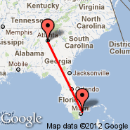 Atlanta (Hartsfield-jackson Atlanta International, ATL) - Fort Lauderdale (Fort Lauderdale/hollywood International, FLL)