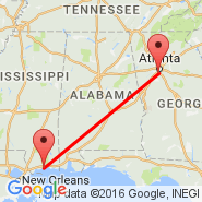 Atlanta (Hartsfield-jackson Atlanta International, ATL) - Gulfport (Gulfport-Biloxi International, GPT)
