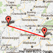 Atlanta (Hartsfield-jackson Atlanta International, ATL) - Memphis (Memphis International, MEM)