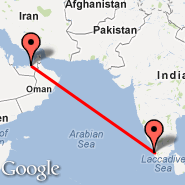 Abu Dhabi (Abu Dhabi International, AUH) - Kochi (Cochin International, COK)