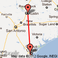 Austin (Austin-bergstrom International, AUS) - Corpus Christi (Corpus Christi International Airport, CRP)