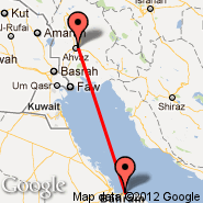 Bahrein (Bahrain International, BAH) - Ahwaz (AWZ)