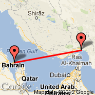 Bahrein (Bahrain International, BAH) - Bandar Abbas (Bandar Abbas International Airport, BND)