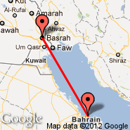 Bahrein (Bahrain International, BAH) - Basra (International, BSR)