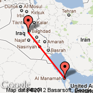 Bahrein (Bahrain International, BAH) - Bagdad (Baghdad International, SDA)