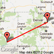 Bullfrog Basin (Bullfrog Basin Airport, BFG) - Denver (Denver International, DEN)