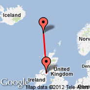 Belfast (Aldergrove International Airport, BFS) - Faroe Islands (Vagar, FAE)