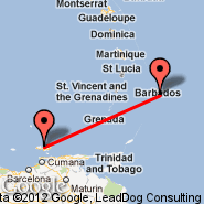 Barbados (Grantley Adams International, BGI) - Isla Margarita (Del Caribe International, PMV)