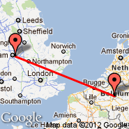 Birmingham (Birmingham International Airport, BHX) - Bruselj (Brussels Airport, BRU)