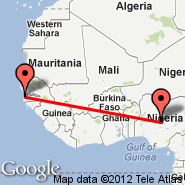 Banjul (Yundum International, BJL) - Abuja (Nnamdi Azikiwe International Airport, ABV)