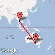 Bangkok (Suvarnabhumi International, BKK) - Adelaide (Adelaide International Airport, ADL)