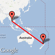 Bangkok (Suvarnabhumi International, BKK) - Auckland (Auckland International, AKL)