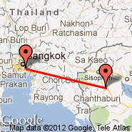 Bangkok (Suvarnabhumi International, BKK) - Battambang (BBM)