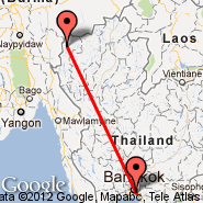 Bangkok (Suvarnabhumi International, BKK) - Mae Hong Son (HGN)