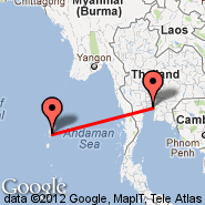 Bangkok (Suvarnabhumi International, BKK) - Port Blair (Port Blair, IXZ)