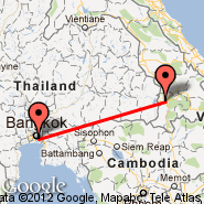 Bangkok (Suvarnabhumi International, BKK) - Pakse (PKZ)