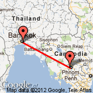 Bangkok (Suvarnabhumi International, BKK) - Phnom Penh (Phnom Penh International, PNH)