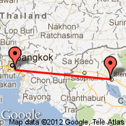 Bangkok (Suvarnabhumi International, BKK) - Siem Reap (Angkor International Airport, REP)