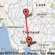 Bangkok (Suvarnabhumi International, BKK) - Uttaradit (UTR)