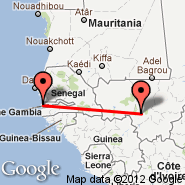 Bamako (S, BKO) - Banjul (Yundum International, BJL)