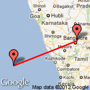Bangalore (Bangalore International Airport, BLR) - Agatti Island (AGX)