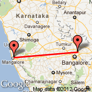 Bangalore (Bangalore International Airport, BLR) - Mangalore (Bajpe, IXE)