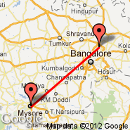 Bangalore (Bangalore International Airport, BLR) - Mysore (MYQ)