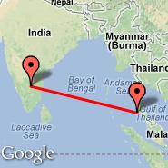 Bangalore (Bangalore International Airport, BLR) - Phi Phi Island (PHZ)