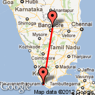 Bangalore (Bangalore International Airport, BLR) - Thiruvananthapuram (Thiruvananthapuram International, TRV)