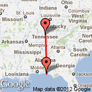 Nashville (Nashville International, BNA) - Destin (Destin-Fort Walton Beach Airport, DSI)